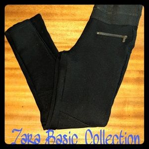 Zara Basic Collection Thick Black Legging Sz Small